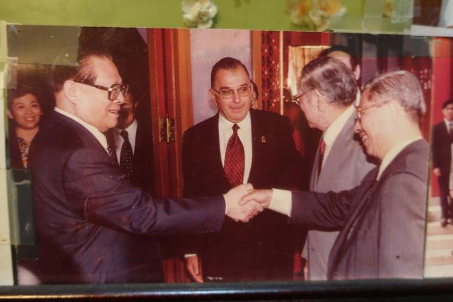 中國前國家主席江澤民曾到訪瓊華酒家。(記者謝哲澍╱攝影)