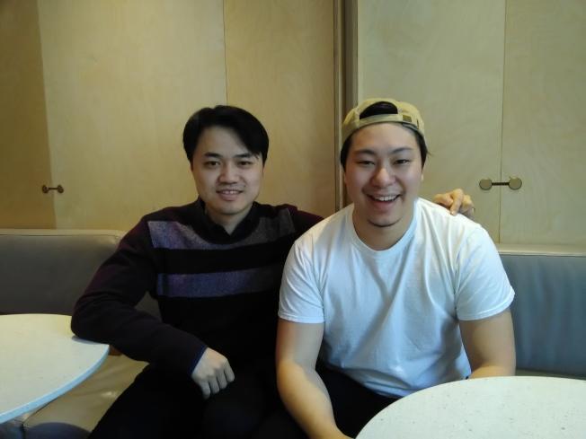 君子食堂的共同創始人趙勇(左)與主廚冼諾揚。(韓傑/攝影)
