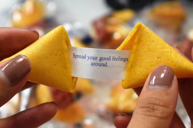 籤語餅在美國有百年歷史,也是中餐象徵之一。(記者顏嘉瑩╱攝影)