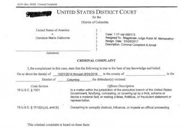 美國國務院一名雇員被中國收買,提供經濟與外交情報。圖為起訴書。(華府聯邦法院網站)