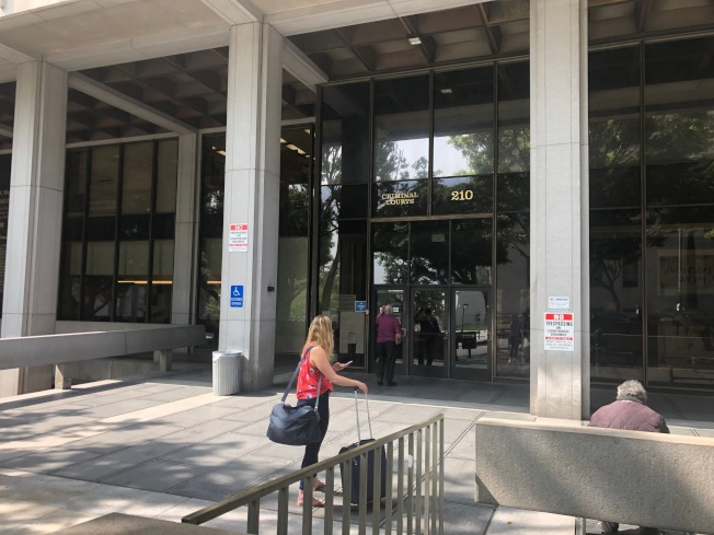 亞凱迪亞市老嫗命案凶嫌Heber Enoc Diaz 26日未到庭應訊。(記者張宏╱攝影)