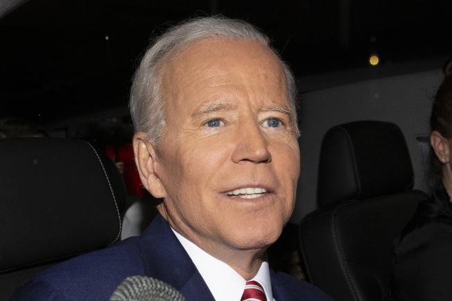 前副總統白登宣布參選總統,還說如果當選,他不會只做一屆。(美聯社)