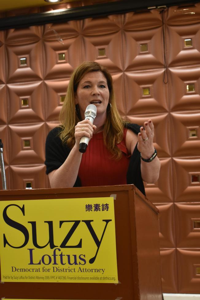 樂素詩承諾讓華人社區與地方檢察長辦公室之間減少溝通障礙。(記者黃少華/攝影)
