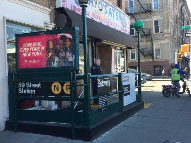 59街地鐵站將開始施工,部分關閉。(記者黃伊奕╱攝影)