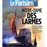 〈圖輯〉 巴黎聖母院浩刼  全球頭版在哭泣