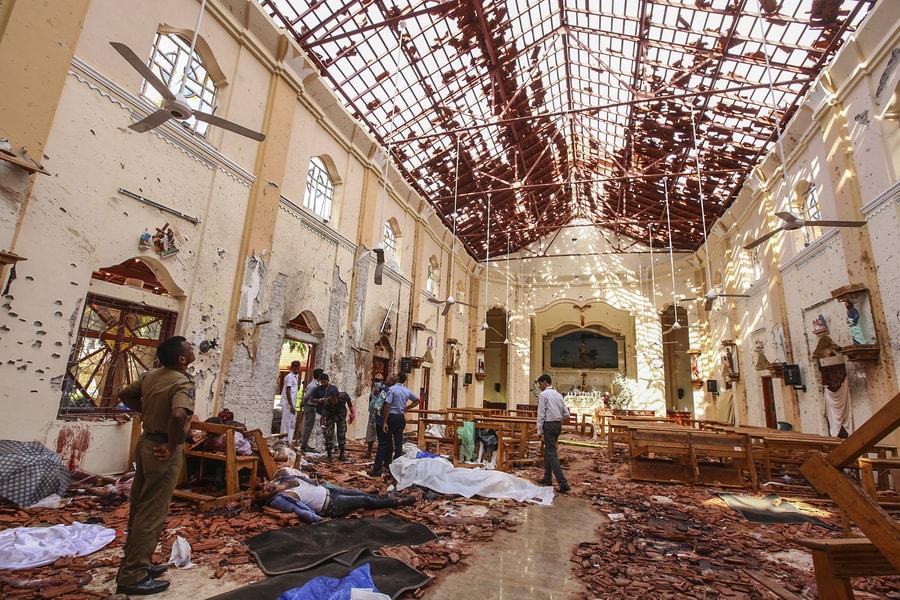 斯里蘭卡首都可倫坡發生連環爆事件,死亡人數已達290人。(美聯社)