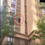 中國84歲老奶奶當蜘蛛人 竟從14樓外牆爬到5樓