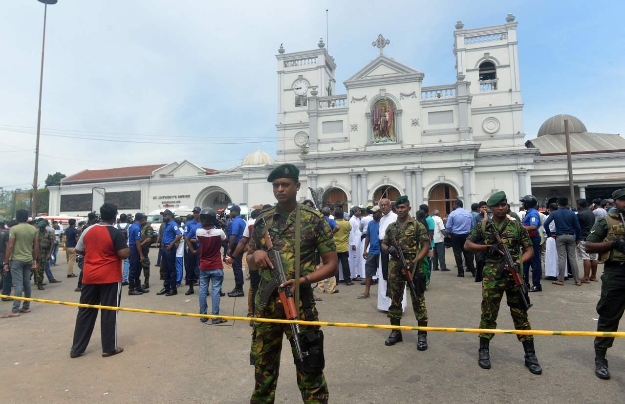 斯里蘭卡21日至少有3家旅館和3間教堂發生爆炸,圖為首都可倫坡市科奇克德的聖安東尼教堂。Getty Images