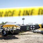 仿「納粹」小飛機墜落厄普蘭 駕駛輕傷