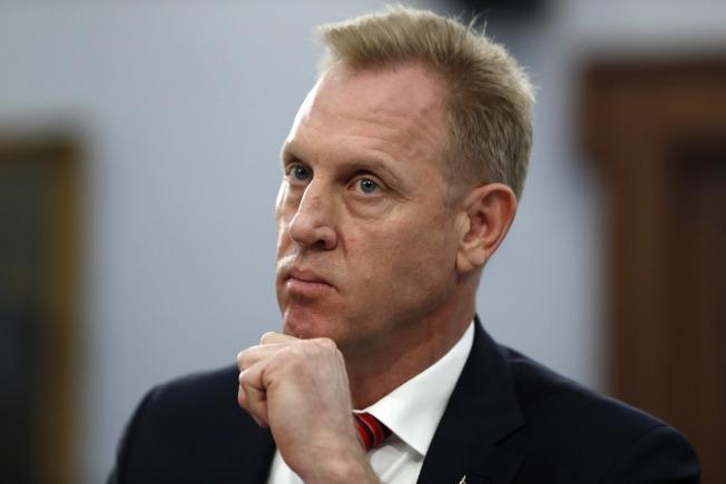 圖為代理國防部長夏納翰(Patrick Shanahan)。美聯社