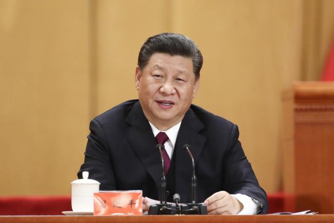 4月30日,紀念五四運動100周年大會在北京人民大會堂隆重舉行。中共中央總書記、國家主席、中央軍委主席習近平在大會上發表重要講話。中新社