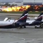 閃電擊中?俄客機硬著陸爆炸起火41死
