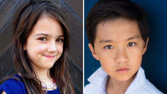 「蟻人」小童星Abby Ryder Fortson和「菜鳥新移民」華裔童星陳琦燁分別出演主角小時候。(圖:環球公司提供)