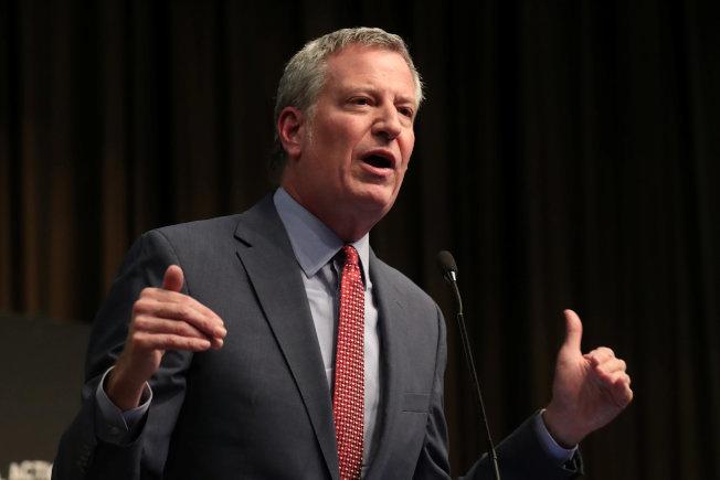 紐約市長白思豪希望改變曼哈頓區高樓林立的天際線。(路透)