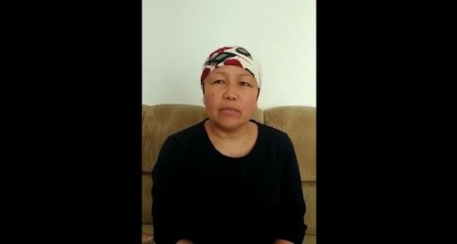 被迫在中國政府新疆「再教育營」執教的前雇員薩吾提拜(Sayragul Sauytbay),在逃出營區後,誓言告訴全世界她的所見所聞。圖截自YouTube