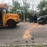 南布碌崙發生相撞事故 校車上約28人受傷