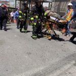 8大道地鐵站施工意外 工人失足跌入大坑