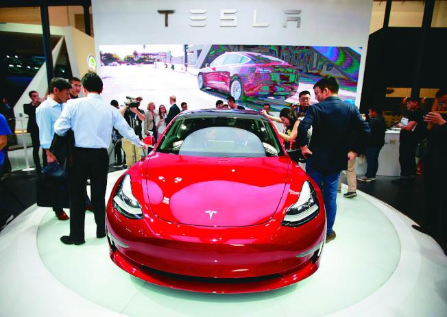 特斯拉4月起開始為Model 3提供租賃服務。(路透資料照片)