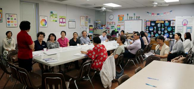 泛亞社區中心召開「華人完全統計小組委員會」會議現場。(記者張蕙燕/攝影)