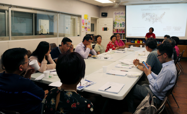 在泛亞社區中心召開首次「華人完全統計小組委員會」會議現場。(記者張蕙燕/攝影)