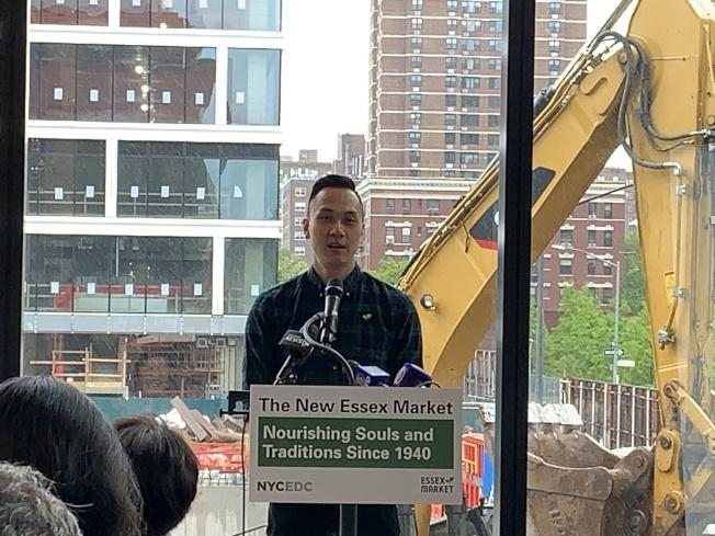 徐艾瑞克表示,雖然市場地址變了,精神沒有消失,那就是為民眾帶來最方便的服務。(記者和釗宇/攝影)