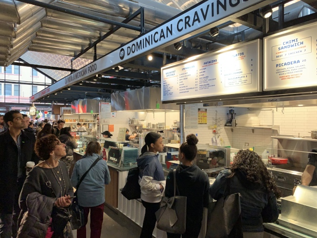 新的艾塞克斯街市場將容納37家商販,其中21家為此前在市場舊址就設有攤位的商家。(記者和釗宇/攝影)