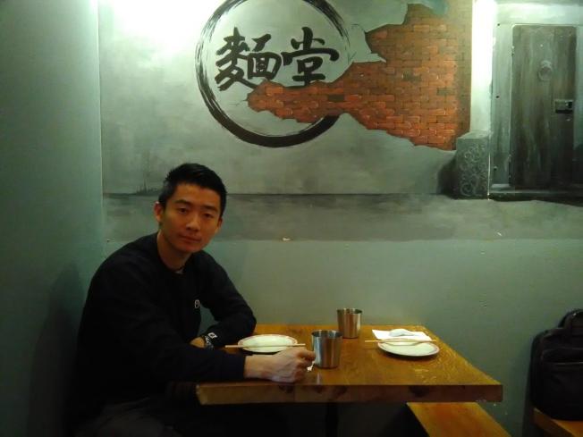 李宇說,中式麵條種類多,但在美的知名度不如日式拉麵。(韓傑/攝影)