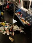 紐約最髒地鐵車廂 垃圾淹沒臭氣熏天
