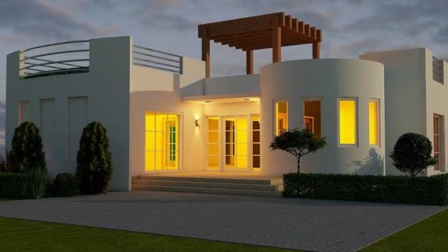 名稱為「創世紀」3D列印房屋造型。(Sunconomy臉書專頁)