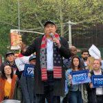 華裔總統參選人楊安澤 紐約造勢支持者聚集