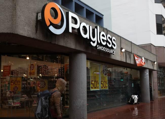 美國零售業宛如進入末日。圖為已宣布破產的美國鞋零售業者Payless ShoeSource。(Getty Images)