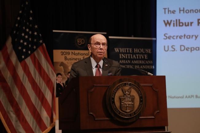 商務部長羅斯出席亞太裔傳統月慶祝活動,除肯定亞太裔社區及企業家的貢獻,也表達美國要與各國開展公平貿易的決心。(記者羅曉媛/攝影)