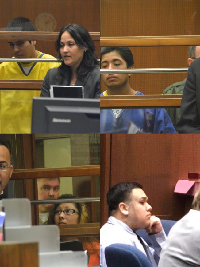 紀欣然案的四名被告,左上為賈西亞。(本報資料照片)