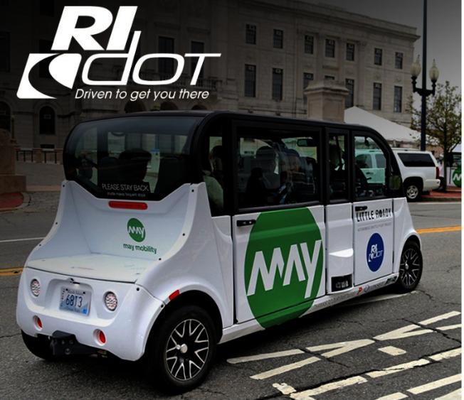 羅德島普羅維登斯啟動免費自動巴士試運行項目。(取自羅德島交通廳臉書)
