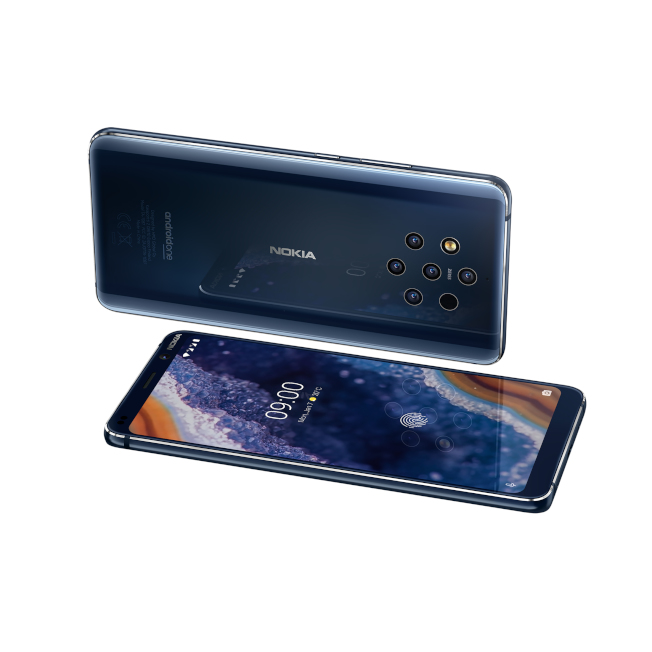 Nokia 9 PureView的5鏡頭設計,包括2顆彩色鏡頭與3顆黑白鏡頭,每次拍照都會同步運作。(圖:HMD Global提供)