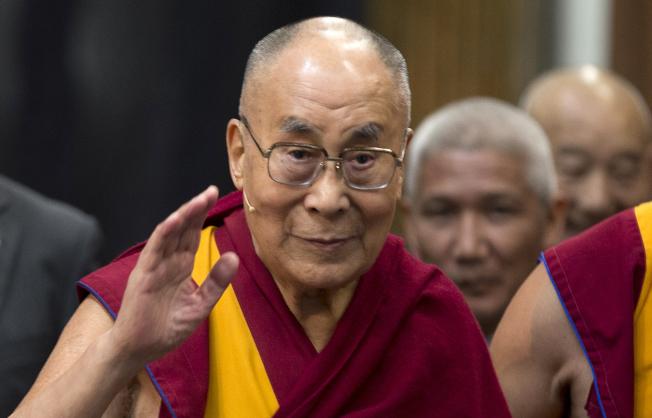 西藏精神領袖達賴喇嘛。美聯社