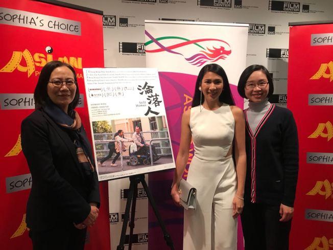 「淪落人」女主姬素·孔尚治(Crisel Consunji,中)參加「亞洲躍動影展」。(記者董宇/攝影)