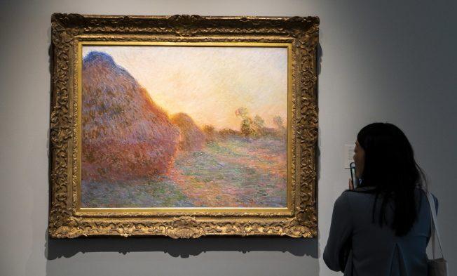 拍賣史第9貴名畫 莫內「乾草堆」1.1億落槌