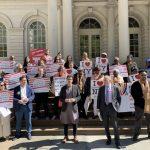 移民團體集會 促紐約市府增加移民項目撥款