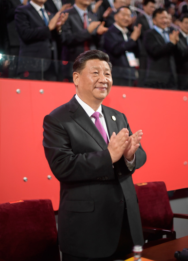 中國國家主席習近平15日出席亞洲文明對話大會的亞洲文化嘉年華活動。(新華社)