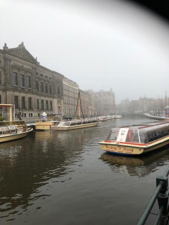 阿姆斯特丹的運河。