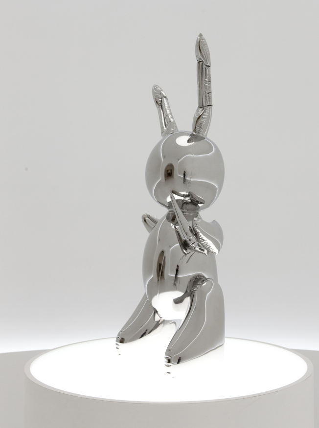 昆斯「兔子」鋼雕9100萬落槌   奪回在世藝術家作品最高拍價