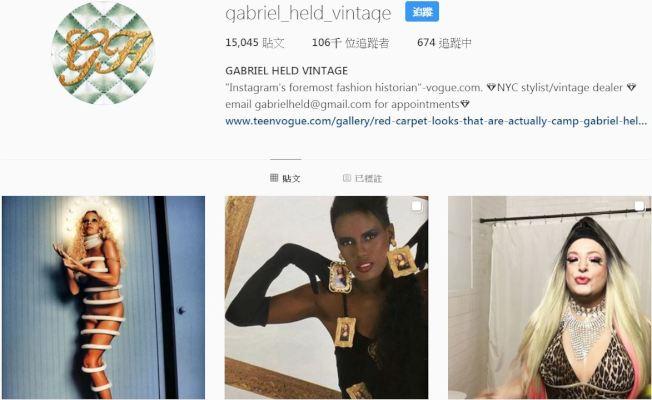 Gabriel Held被喻為「Instagram上最受歡迎復古衣拍賣商」,象徵時尚循環商機。取自gabriel_held_vintage | Instagram