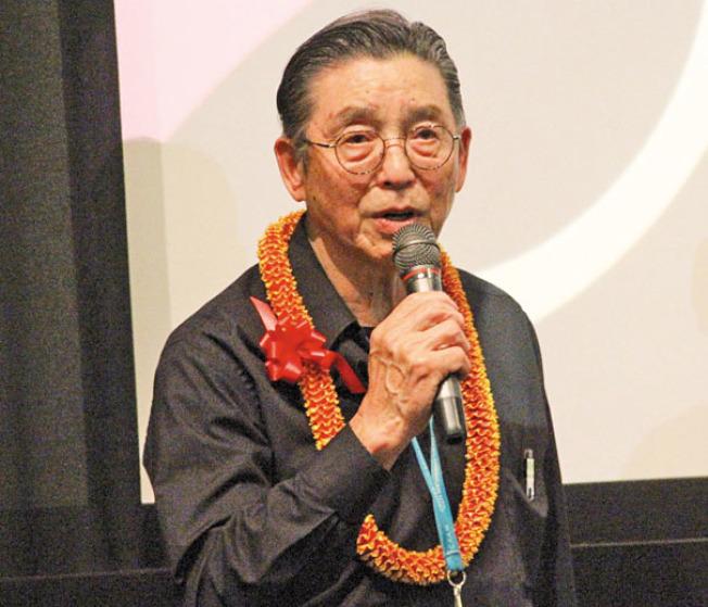 導演黃光漢早年拍攝大量政治運動資料,如今首次在影片中公開。(記者李晗/攝影)