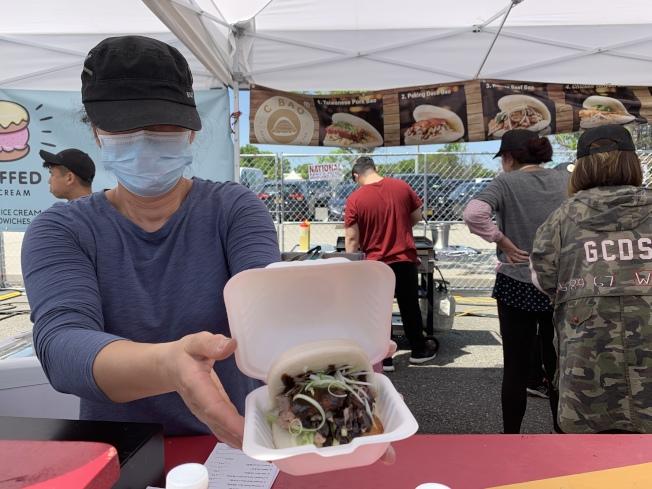 「C-Bao」最受歡迎口味是鴨肉刈包。(記者賴蕙榆/攝影)