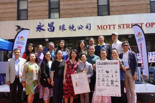 民選官員及代表參加亞太裔傳統節。(記者金春香/攝影)