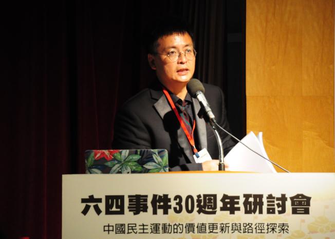 六四學運領袖封從德19日表示,香港是中國民主燈塔,不會熄滅的。(中央社)