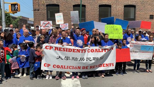 「五區聯盟」和「大學點居民聯盟」19日集會,要求市長白思豪下台。(記者和釗宇/攝影)