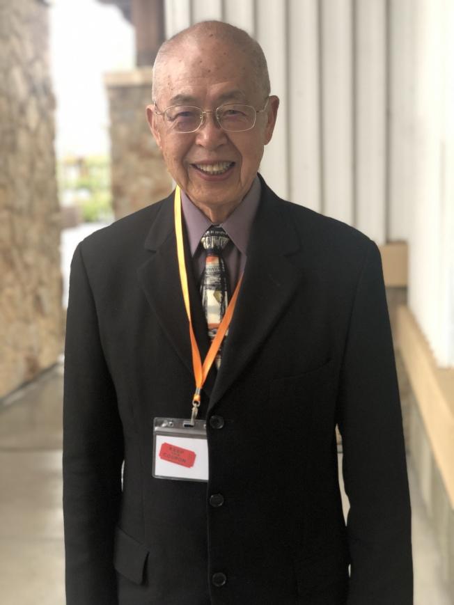 前舊金山科技組組長周仁章今年獲得終身成就獎。(記者李榮/攝影)