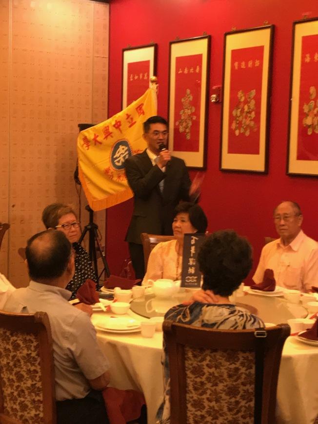 駐休士頓經濟文化辦事處處長陳家彥也前來歡迎薛富盛訪問休士頓。(記者郭宗岳/攝影)